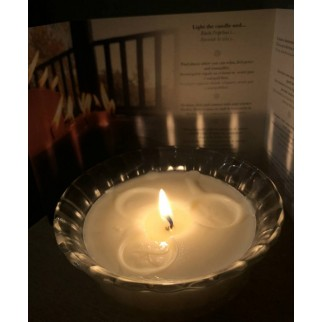 Photo of lit candle