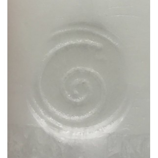 Candle with the engraved protection symbol