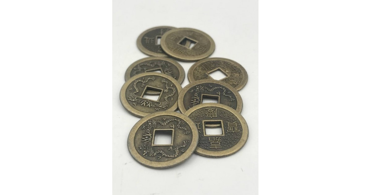 eight I-Ching coins for your rituals or to decorate