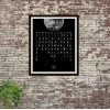calendar on the wall in black