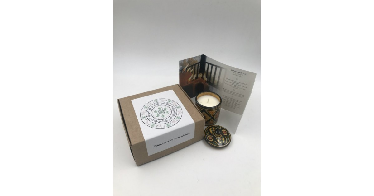 ceramic soya candle in gift box