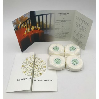 pack of four refillings of peace and harmony meditation candles with brochures