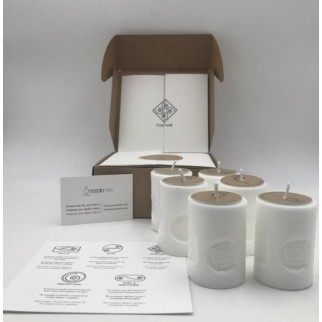 pack of six candles for fortune with the symbol engraved and in a gift box