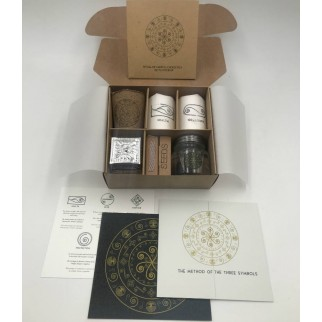 ritual of energetic cleansing of yoursel, with all products presented in a gift convenient box